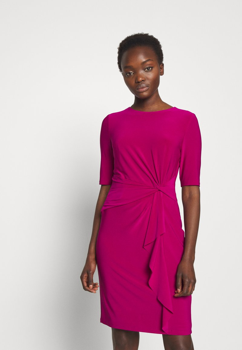 Lauren Ralph Lauren - MID WEIGHT DRESS - Vardagsklänning - bright fuchsia