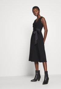 Lauren Ralph Lauren - MID WEIGHT DRESS COMBO - Cocktailjurk - black - 4