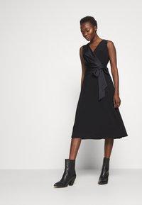Lauren Ralph Lauren - MID WEIGHT DRESS COMBO - Cocktailjurk - black - 3
