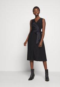 Lauren Ralph Lauren - MID WEIGHT DRESS COMBO - Cocktailjurk - black - 2
