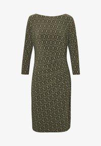 Lauren Ralph Lauren - PRINTED MATTE DRESS - Shift dress - oliva/gold/multi - 4