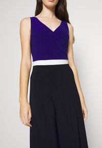 Lauren Ralph Lauren - 3 TONE DRESS - Jerseyjurk - navy/white - 5