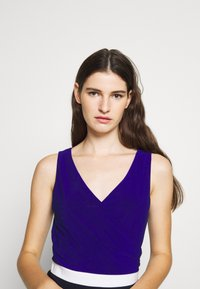 Lauren Ralph Lauren - 3 TONE DRESS - Jerseyjurk - navy/white - 3
