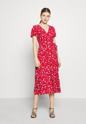 PRINTED MATTE DRESS - Jerseykleid - red
