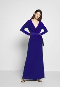 Lauren Ralph Lauren - CLASSIC LONG GOWN - Galajurk - cannes blue - 0