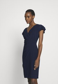 Lauren Ralph Lauren - MID WEIGHT DRESS - Žerzejové šaty - lighthouse navy - 0