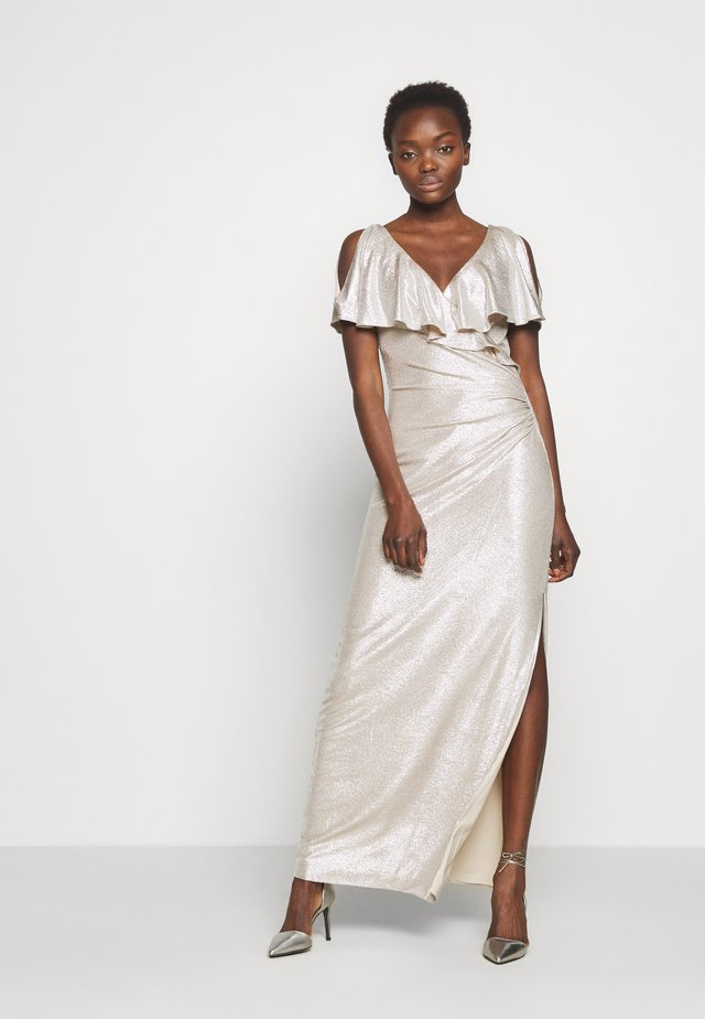 LONG GOWN - Galajurk - champagne/silver
