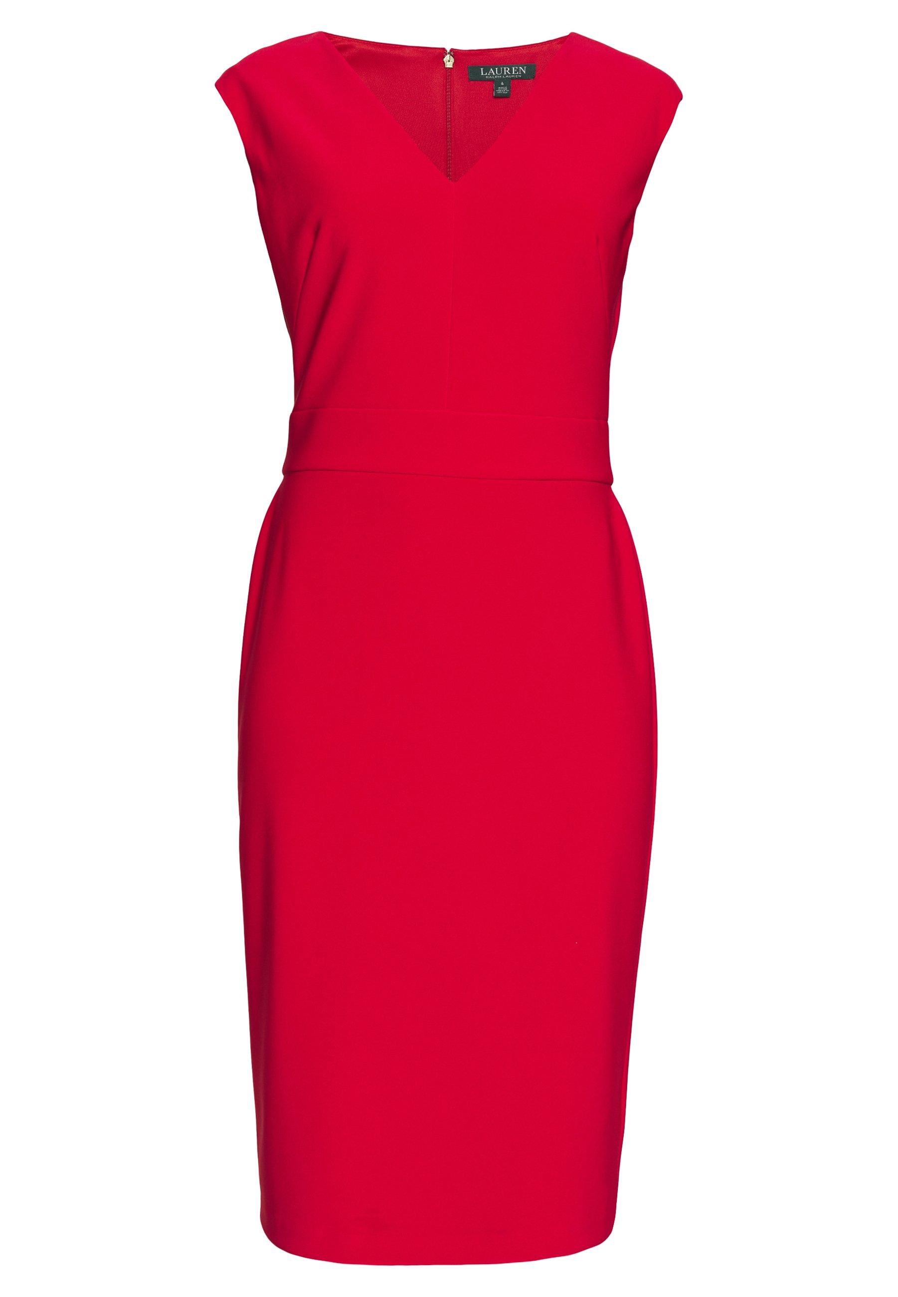 Lauren Ralph Lauren BONDED MJ-DRESS - Kjole - persimmon