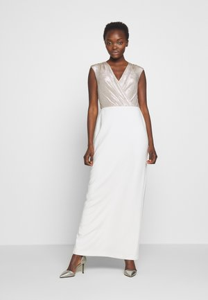 BONDED LONG GOWN COMBO - Occasion wear - matte ivory/champ