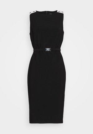 BONDED TONE DRESS - Sukienka etui - black/white