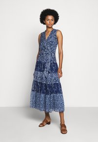 Lauren Ralph Lauren - CRINKLE DRESS - Day dress - blue/multi - 0