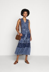 Lauren Ralph Lauren - CRINKLE DRESS - Day dress - blue/multi - 1
