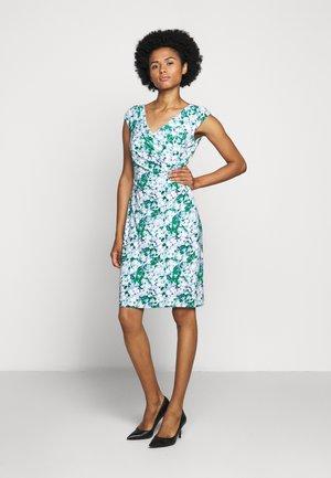 PRINTED MATTE DRESS - Shift dress - colonial cream