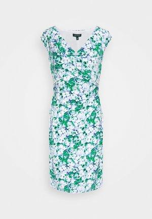 PRINTED MATTE DRESS - Žerzejové šaty - colonial cream