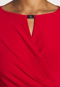 Lauren Ralph Lauren - MID WEIGHT DRESS TRIM - Shift dress - orient red - 6