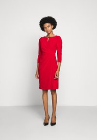 Lauren Ralph Lauren - MID WEIGHT DRESS TRIM - Shift dress - orient red - 1