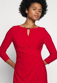 Lauren Ralph Lauren - MID WEIGHT DRESS TRIM - Shift dress - orient red - 4