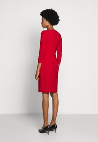 Lauren Ralph Lauren - MID WEIGHT DRESS TRIM - Shift dress - orient red - 2