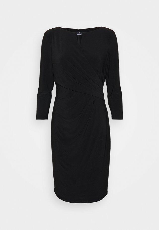 MID WEIGHT DRESS TRIM - Etui-jurk - black