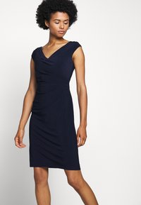 Lauren Ralph Lauren - MID WEIGHT DRESS - Shift dress - lighthouse navy - 4