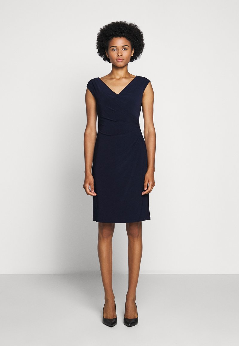 Lauren Ralph Lauren - MID WEIGHT DRESS - Shift dress - lighthouse navy