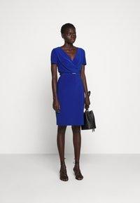 Lauren Ralph Lauren - BONDED DRESS BELT - Shift dress - summer sapphire - 1