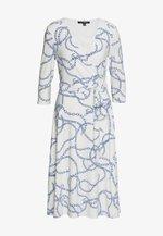 PRINTED MATTE DRESS - Denim dress - colonial cream