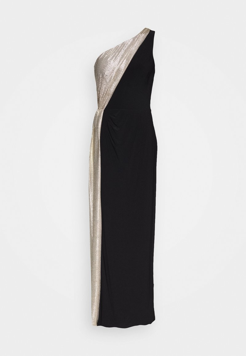 Lauren Ralph Lauren - CLASSIC LONG GOWN  - Galajurk - black/lannister gold