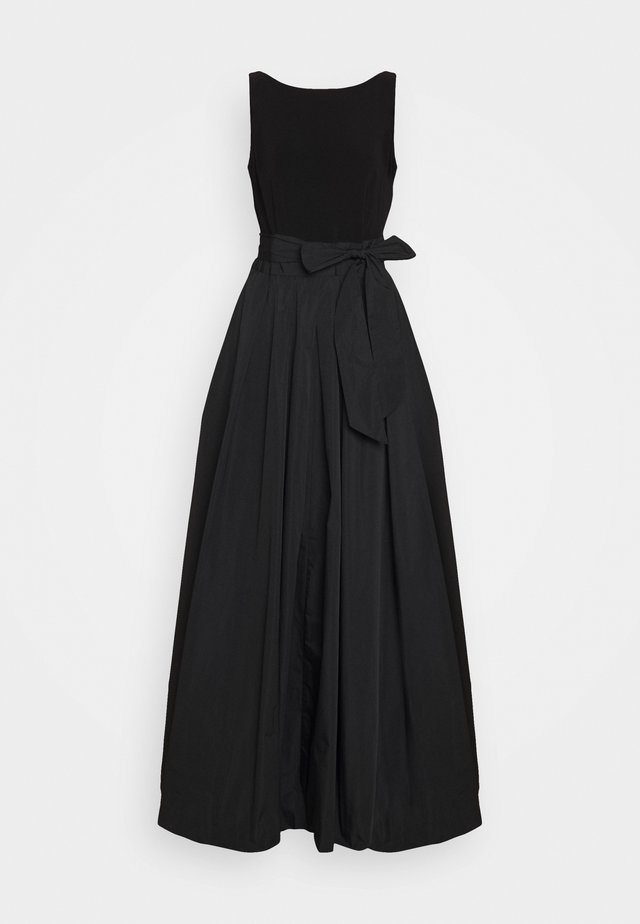 MEMORY LONG GOWN COMBO - Maxi šaty - black