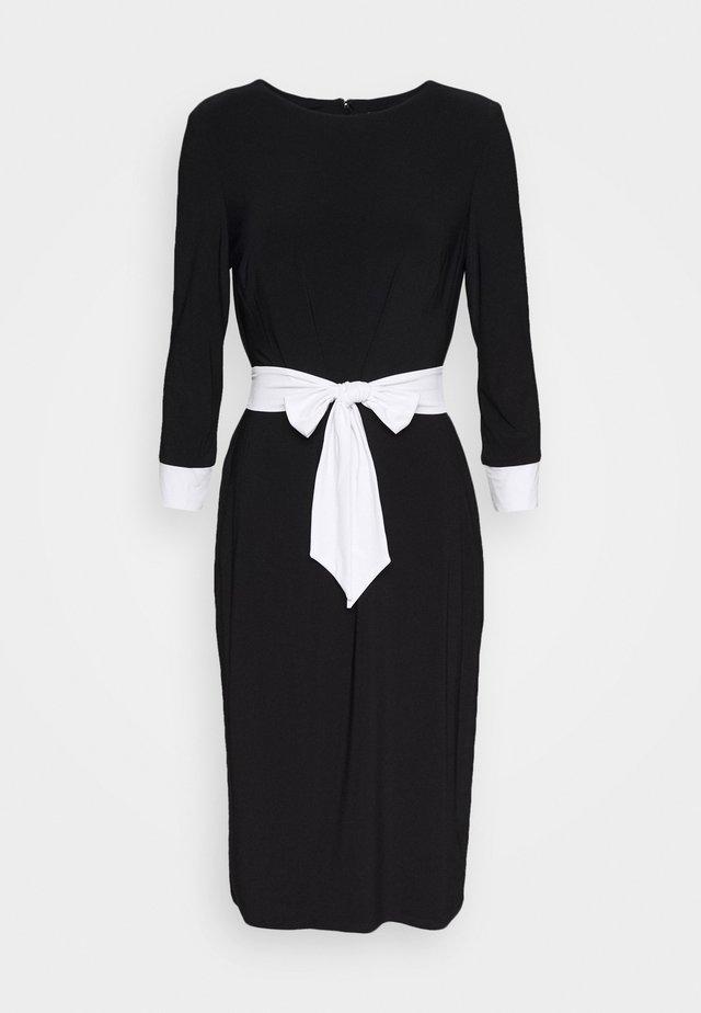 CLASSIC  2 TONE DRESS - Jerseykjoler - black/white