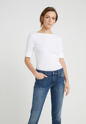 JUDY ELBOW SLEEVE - T-shirts - white