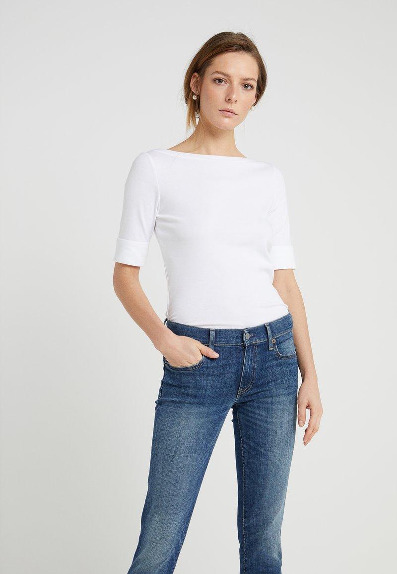 Lauren Ralph Lauren - JUDY ELBOW SLEEVE - T-shirts - white