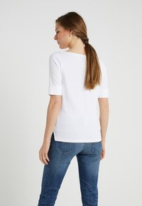 Lauren Ralph Lauren - JUDY ELBOW SLEEVE - Basic T-shirt - white