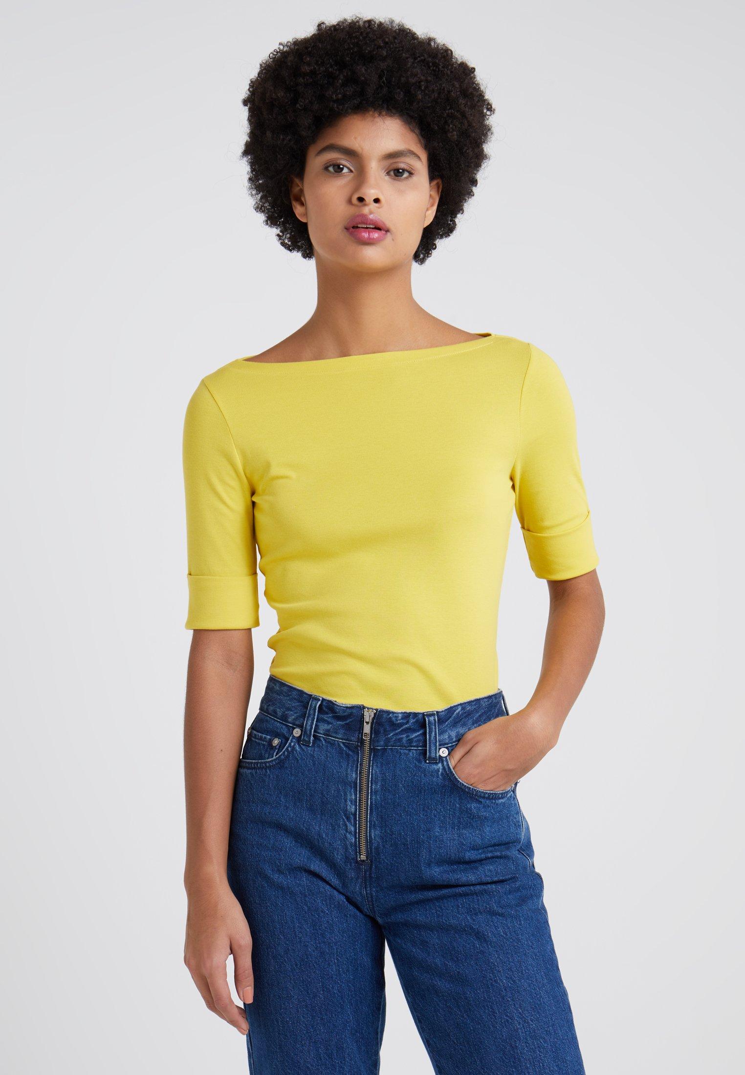 shirt Elbow Yellow Regatta Ralph Judy SleeveT Basique Lauren nOkXwN8Z0P