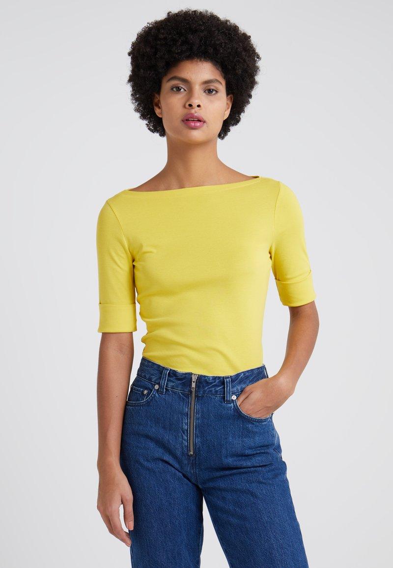 Lauren Ralph Lauren - JUDY ELBOW SLEEVE - T-shirt basique - regatta yellow