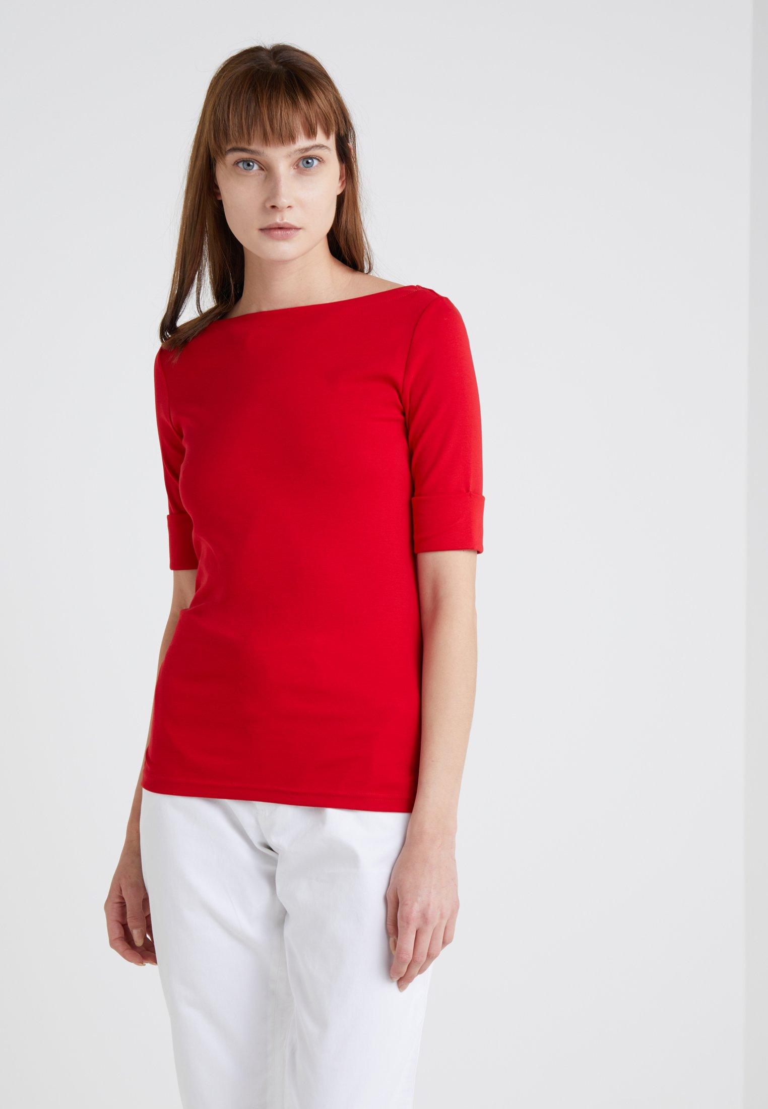 Lacquer SleeveT Judy Elbow shirt Red Basique Ralph Lauren 8XNPOn0wk