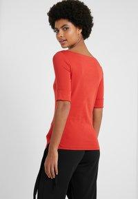 Lauren Ralph Lauren - JUDY ELBOW SLEEVE - T-shirts - canyon red - 2