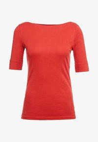 Lauren Ralph Lauren - JUDY ELBOW SLEEVE - T-shirts - canyon red - 3