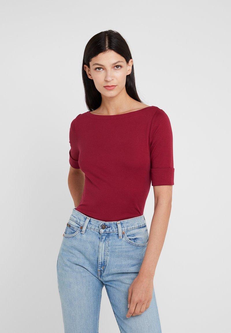 Lauren Ralph Lauren - JUDY ELBOW SLEEVE - T-shirt basic - dark rasberry