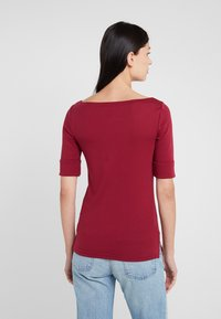 Lauren Ralph Lauren - JUDY ELBOW SLEEVE - T-shirt basique - dark rasberry - 2