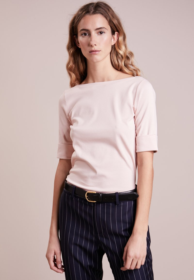 Lauren Ralph Lauren - JUDY ELBOW SLEEVE - Basic T-shirt - pale rose