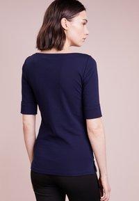 Lauren Ralph Lauren - JUDY ELBOW SLEEVE - Basic T-shirt - navy - 2