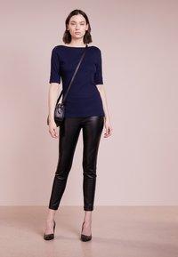 Lauren Ralph Lauren - JUDY ELBOW SLEEVE - Basic T-shirt - navy - 1