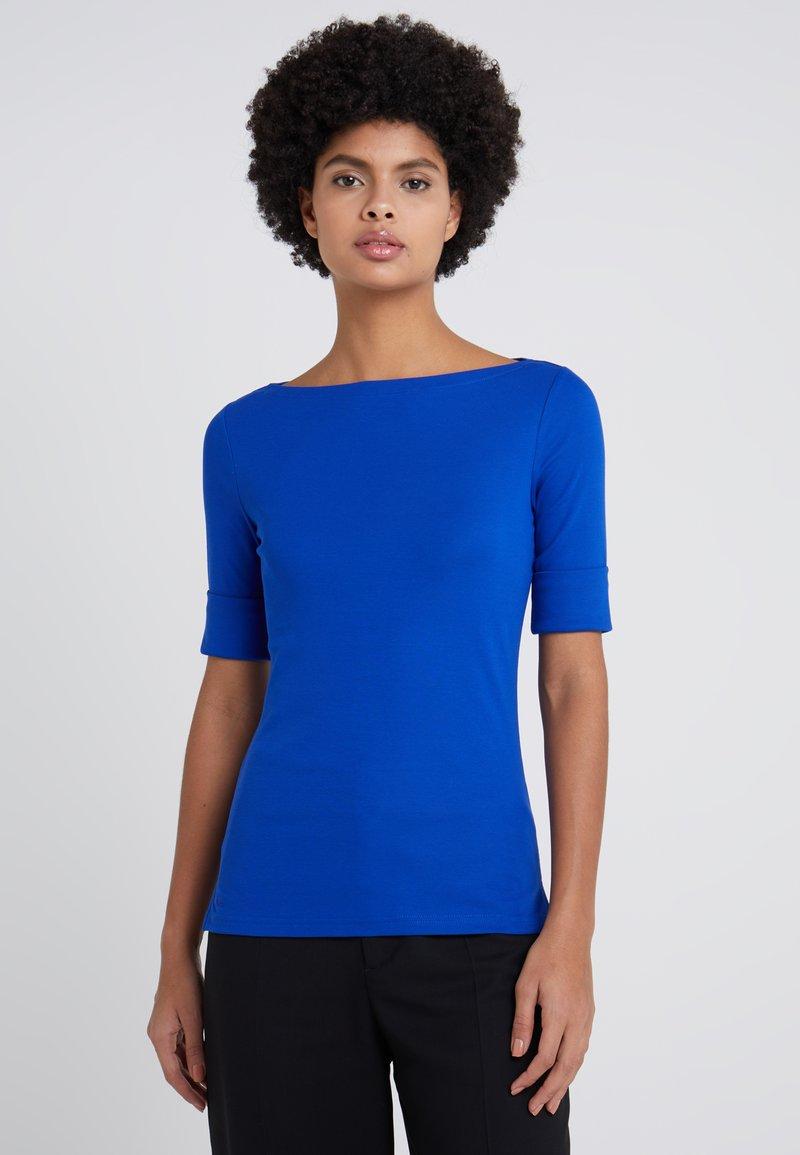 Lauren Ralph Lauren - JUDY ELBOW SLEEVE - T-shirts - blue ocean