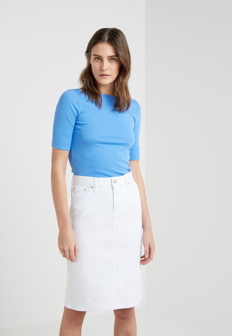 Lauren Ralph Lauren - JUDY ELBOW SLEEVE - T-shirts - eos blue