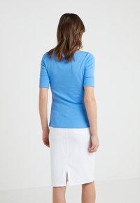 Lauren Ralph Lauren - JUDY ELBOW SLEEVE - T-shirts - eos blue - 2