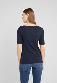 Lauren Ralph Lauren - JUDY ELBOW SLEEVE - T-shirt basic - navy - 2