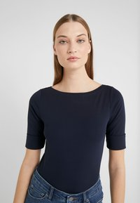 Lauren Ralph Lauren - JUDY ELBOW SLEEVE - T-shirt basic - navy - 3