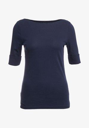 JUDY ELBOW SLEEVE - Basic T-shirt - navy