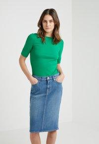 Lauren Ralph Lauren - JUDY ELBOW SLEEVE - Jednoduché triko - cambridge green - 0